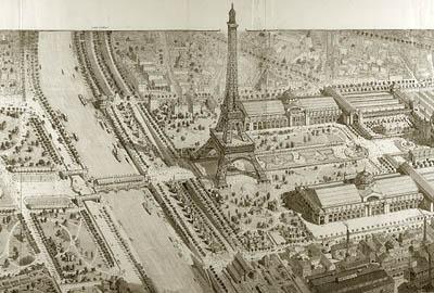 Paris em 1889 (Exposição Universal; grav. de Hoffbnaur e Dochy)