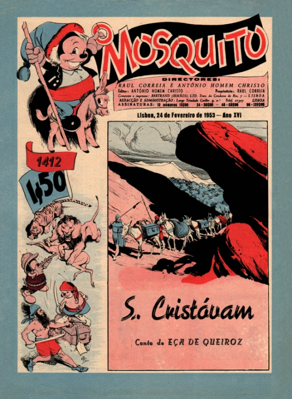 São Cristóvão, em O Mosquito (1953), ilustrado por E. T. Coelho