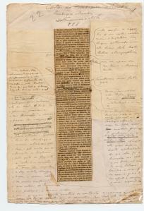 Recorte de jornal emendado (d'A Corr. de Fradique  Mendes).